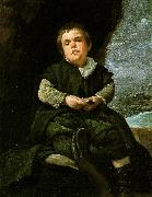 VELAZQUEZ, Diego Rodriguez de Silva y The Dwarf Francisco Lezcano, Called El Nino de Vallecas ar oil painting picture wholesale