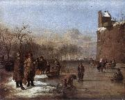 VELDE, Adriaen van de Amusement on the Ice r oil painting picture wholesale