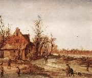VELDE, Esaias van de Winter Landscape rt oil painting picture wholesale