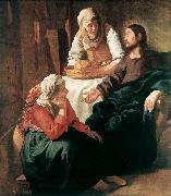 VERMEER VAN DELFT, Jan Christ in the House of Martha and Mary  r oil painting picture wholesale