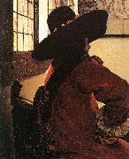 VERMEER VAN DELFT, Jan Officer with a Laughing Girl (detail)  jhg oil painting artist