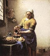 VERMEER VAN DELFT, Jan The Milkmaid yi oil painting picture wholesale