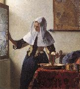 VERMEER VAN DELFT, Jan Young Woman with a Water Jug wer oil painting picture wholesale