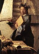 VERMEER VAN DELFT, Jan The Art of Painting (detail)  awr oil painting picture wholesale