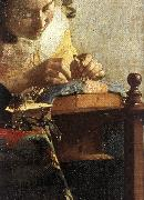 VERMEER VAN DELFT, Jan The Lacemaker (detail) wet oil painting picture wholesale