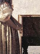 VERMEER VAN DELFT, Jan Lady Standing at a Virginal (detail) wer oil painting picture wholesale
