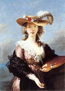 VIGEE-LEBRUN, Elisabeth Self-Portrait in a Straw Hat r oil painting artist