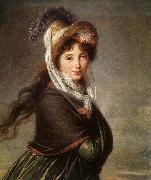 VIGEE-LEBRUN, Elisabeth Portrait of a Young Woman et oil painting picture wholesale
