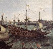 VROOM, Hendrick Cornelisz. The Arrival at Vlissingen of the Elector Palatinate Frederick V (detail) ar oil painting artist