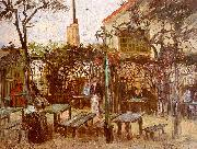 Vincent Van Gogh Terrace of the Cafe on Montmartre oil painting picture wholesale