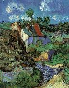 Vincent Van Gogh Houses in Auvers oil painting picture wholesale