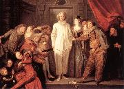 WATTEAU, Antoine Italian Comedians21 oil painting picture wholesale