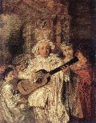 WATTEAU, Antoine Gilles and his Family oil painting picture wholesale