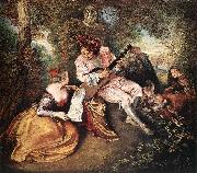 WATTEAU, Antoine La gamme d amour oil painting picture wholesale