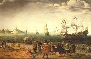 WILLAERTS, Adam Coastal Landscape with Ships oil painting artist