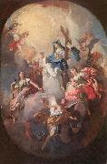 WINTERHALTER, Josef the Younger Faith, Hope and Charity oil painting picture wholesale