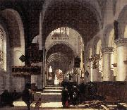 WITTE, Emanuel de Interior of a Church oil painting artist