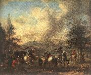 WOUWERMAN, Philips Riding School  4et Sweden oil painting artist
