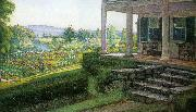 Walter I Cox The Front Porch oil painting artist