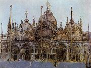 Walter Sickert St Mark's Cathedral, Venice oil painting artist