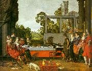 Willem Buytewech Merry Company in the Open Air oil painting artist