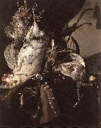 Willem van Still-Life of Dead Birds and Hunting Weapons oil painting picture wholesale