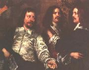 William Dobson The Artist, Sir Charles Cotterell and Balthasar Gerbier oil painting picture wholesale