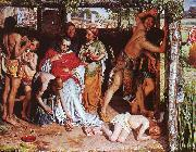 William Holman Hunt A Converted British Family Sheltering a Christian Missionary from the Persecution of the Druids oil painting picture wholesale