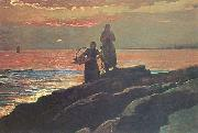 Winslow Homer Sunset, Saco Bay oil painting picture wholesale