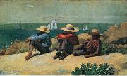 Winslow Homer On the Beach, 1875 oil painting picture wholesale