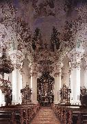 ZIMMERMANN  Johann Baptist Interior with ceiling fresco oil painting picture wholesale