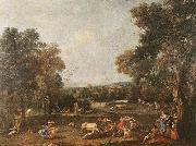ZUCCARELLI  Francesco Bull-Hunting oil painting artist