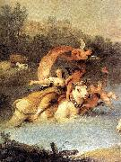 ZUCCARELLI  Francesco The Rape of Europa (detail) oil painting artist