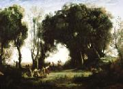 camille corot A Morning; Dance of the Nymphs(Salon of 1850-1851) oil painting picture wholesale