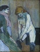 Henri  Toulouse-Lautrec Woman Pulling Up Her Stocking oil painting picture wholesale