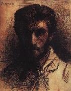 Bonnat, LEon Self Portrait QE oil painting artist