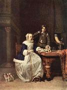 METSU, Gabriel Breakfast oil painting artist
