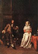 METSU, Gabriel The Hunter and a Woman sg oil painting artist