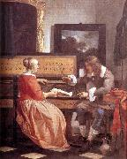 METSU, Gabriel Man and Woman Sitting at the Virginal f oil painting artist