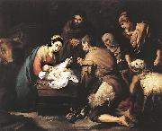 MURILLO, Bartolome Esteban Adoration of the Shepherds zg oil painting picture wholesale