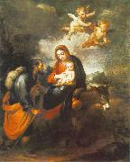 MURILLO, Bartolome Esteban Flight into Egypt sg oil painting picture wholesale