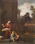 MURILLO, Bartolome Esteban Holy Family with the Infant St John dh oil painting picture wholesale