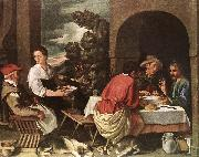 ORRENTE, Pedro The Supper at Emmaus ag oil painting artist