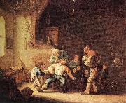 OSTADE, Adriaen Jansz. van Barber Extracting of Tooth sg oil painting artist
