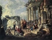 PANNINI, Giovanni Paolo Apostle Paul Preaching on the Ruins af oil painting artist