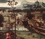 PATENIER, Joachim Landscape with the Rest on the Flight (detail) a oil painting picture wholesale