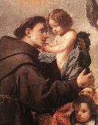 PEREDA, Antonio de St Anthony of Padua with Christ Child (detail) wsg oil painting picture wholesale