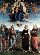 PERUGINO, Pietro Madonna in Glory with the Child and Saints f oil painting picture wholesale