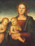 PERUGINO, Pietro Madonna with Child and Little St John af oil painting picture wholesale