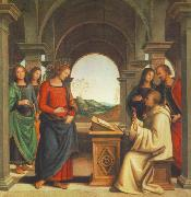 PERUGINO, Pietro The Vision of St. Bernard af oil painting picture wholesale